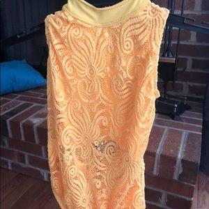 Kandi Kouture AXS Leotard Yellow Fits Girl Size 10